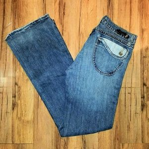 "Awesome ""VIGOSS"" Faux Flap Pocket Jeans"